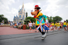 Parade in magic kingdom. Cartoon characters parade in magic kingdom, disney world Orlando, Florida Royalty Free Stock Photography