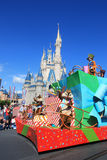 Parade in Magic Kingdom castle in Disney World in Orlando Stock Image