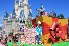 Parade in Magic Kingdom castle in Disney World in Orlando Stock Photography