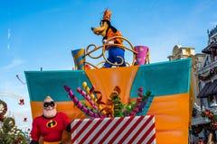 Parade in Main Street de V.S. bij het Magische Koninkrijk, Walt Disney World Stock Afbeeldingen