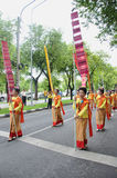 Parade of making traditional merit in Thailand Royalty Free Stock Photo
