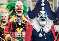 Parade of Masks at Carnival of Basel (Basler Fasnacht) Stock Photography