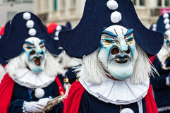Parade of Masks at Carnival of Basel (Basler Fasnacht) Stock Photo
