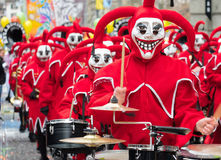 Parade of Masks at Carnival of Basel (Basler Fasnacht) Royalty Free Stock Photos