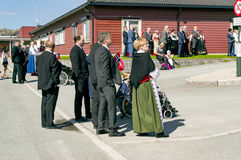 The parade meeting of the Norwegian constitution Royalty Free Stock Image