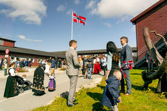 The parade meeting of the Norwegian constitution Royalty Free Stock Photo