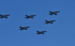 Parade of military aviation military space forces of Russia Stock Image