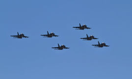 Parade of military aviation military space forces of Russia Stock Photos