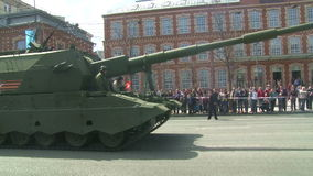 The parade of military equipment in Moscow, Russia stock video footage