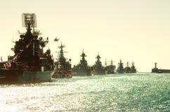 Parade military marine sea fleet Stock Image