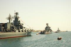 Parade military marine sea fleet of Russia Royalty Free Stock Image