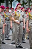 Parade of military orchestras Stock Images