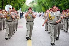 Parade of military orchestras Royalty Free Stock Photos