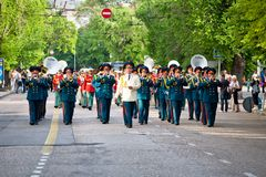 Parade of military orchestras Stock Photo