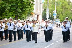 Parade of military orchestras Stock Image