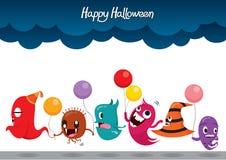 Parade Monster-lustiger Halloween-Partei Stockfoto