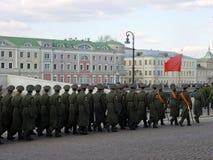 Parade in Moskau lizenzfreies stockbild