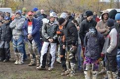 Parade of motorbike racing motocross Stock Images