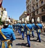 Parade of the municipal police in full uniform, Sevilla, Spain royalty free stock photo