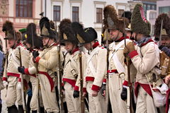 Parade Napoleon's army in Vyskov Royalty Free Stock Photo