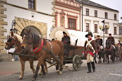 Parade Napoleons army in Vyskov Stock Photography