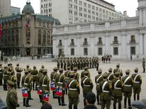 Parade national day celebration palace Chile Royalty Free Stock Images