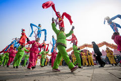 Parade. New Year's parade in Shanxi China Stock Images