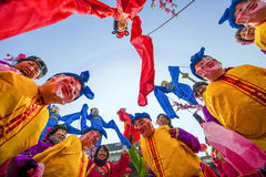 Parade. New Year's parade in Shanxi China Stock Photography