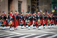 Parade NYC St. Patricks Tages Stockbild