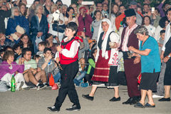 Parade of the oldest rural nestinar at the Nestenar Games in the village of Bulgari, Bulgaria Royalty Free Stock Image