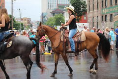 Parade op Broadway in Nashville, Tennessee Royalty-vrije Stock Foto's