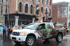 Parade op Broadway in Nashville, Tennessee Stock Foto's