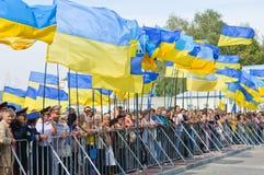 Parade op de Dag van de Onafhankelijkheid van de Oekraïne Stock Fotografie