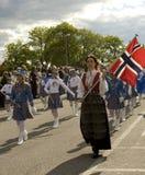 Parade op Noorse nationale dag Royalty-vrije Stock Fotografie