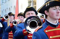 Parade of orchestras at the German carnival Fastnacht Royalty Free Stock Photos