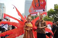 Parade participants Royalty Free Stock Photos