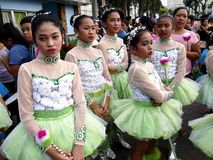 Parade participants in their colorful costumes during the Sumaka Festival in Antipolo City. Stock Image