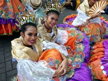 Parade participants in their colorful costumes during the Sumaka Festival in Antipolo City. Stock Photography
