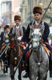 Parade of 70 participants, twenty horses and forty members of the marching band have announced the next 300 Alka Stock Images