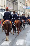 Parade of 70 participants, twenty horses and forty members of the marching band have announced the next 300 Alka Stock Photo