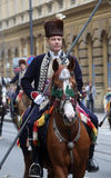 Parade of 70 participants, twenty horses and forty members of the marching band have announced the next 300 Alka Royalty Free Stock Image