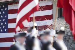 Parade. Patriot's Day Parade, Lexington, MA, US Royalty Free Stock Photos