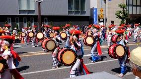 Parade and performance in Tohoku Kizuna Festival 2018 Morioka, Japan