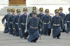 Parade of president Putin guards Stock Photos