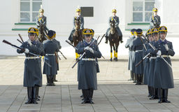 Parade of president Putin guards Stock Photography