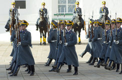 Parade of president Putin guards Stock Images