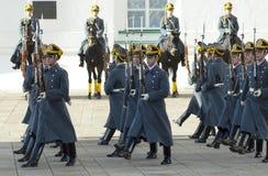 Parade of president Putin guards stock images