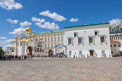 Parade of presidential guards in Moscow Kremlin Stock Images