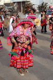 Parade in Puno - Peru Stockfotos