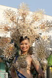 Parade queen. Picture of a parade queen with headdress Royalty Free Stock Images